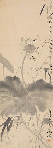 Deng Fen (1894-1964) Ink Lotus, 1944