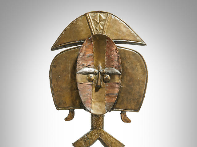 Exceptional Kota Reliquary Guardian Figure, Obamba Group, Gabon