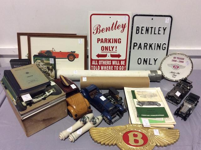 Assorted Bentley collectables,
