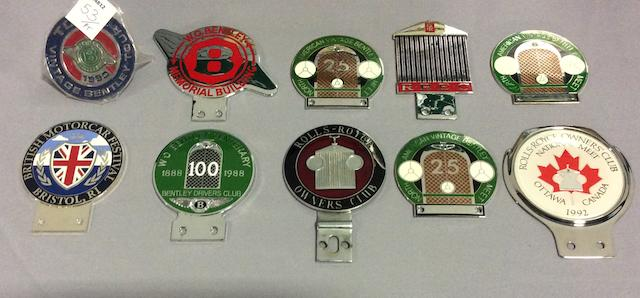An Assortment of Bentley and British Car Badges