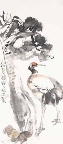 Cheng Shifa (1921-2007) Crane and Pine, 1977