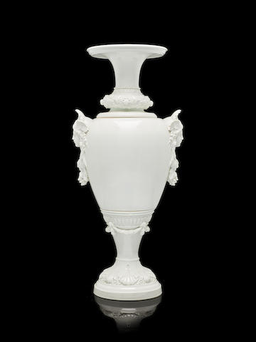A monumental porcelain vase Imperial Porcelain Factory, St. Petersburg, period of Alexander III, probably after a model by August Spiess
