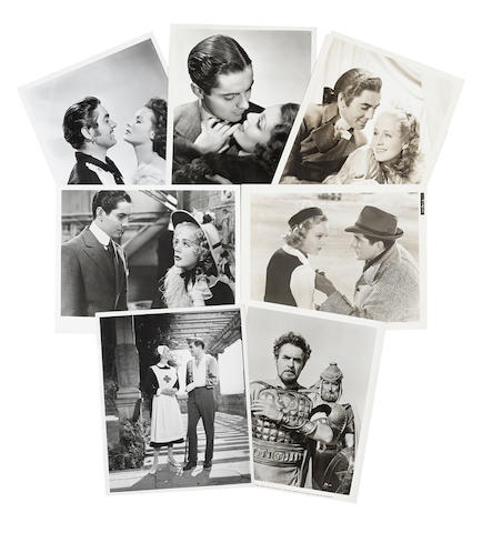 A Tyrone Power archive of scene stills from his films