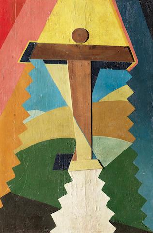 Giulio D'anna (1908-1978) Aereo in ascensione 30 7/8 x 20 1/4 in (78.5 x 51.5 cm) (Painted circa 1929)