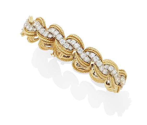 A diamond and 18k bi-color gold bracelet, Hammerman Brothers