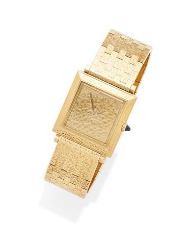 An 18k gold bracelet wristwatch, Boucheron