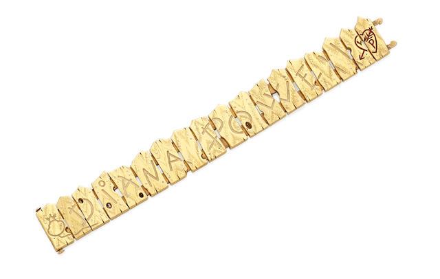 An enamel and gold bracelet, Brock & Co.