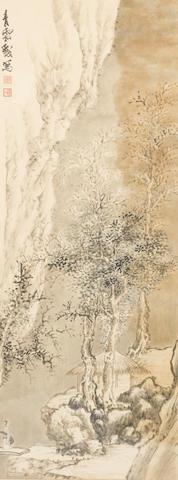 Jiang Jian (Chiang Er-Shih 1913-1972) Snow Landscape