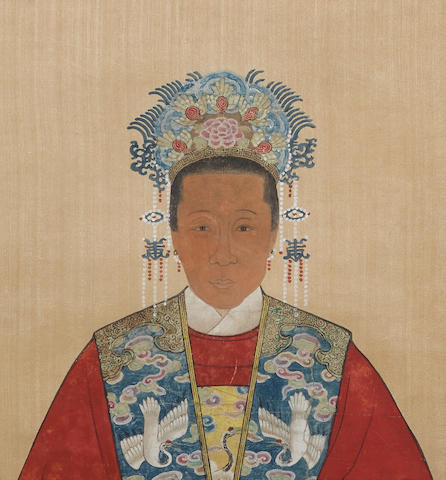 Anonymous (late Qing dynasty) Two Chinese ancestor portraits