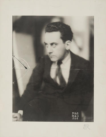 "MAN RAY. 1890-1976. Photograph signed (""MR""), Self-Portrait 1924,"