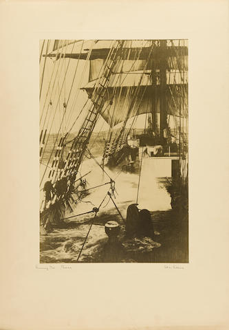 VILLIERS, ALAN. 1903-1982.  Collection of 17 signed photographs depicting sailing ships, gelatin silver prints, printed 1931-1937,