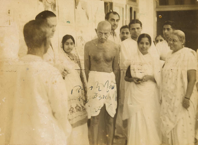 Gandhi, Mohandas Karamchand. 1869-1948. [The Harijan Tour and other tours around India.] India: [early 1930s].
