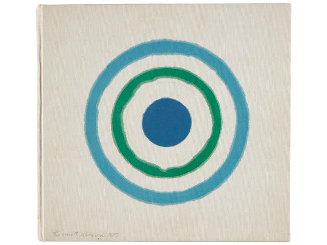 NOLAND, KENNETH. 1924-2010. Original circle painting, untitled,