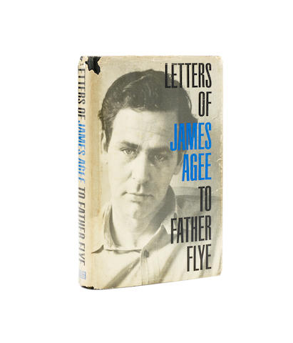 AGEE, JAMES. 1909-1955. Letters of James Agee to Father Flye. New York: George Braziller, 1962.