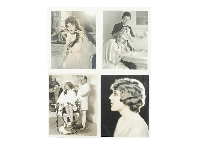 A Mary Pickford group of photographs pertaining to her famous hair