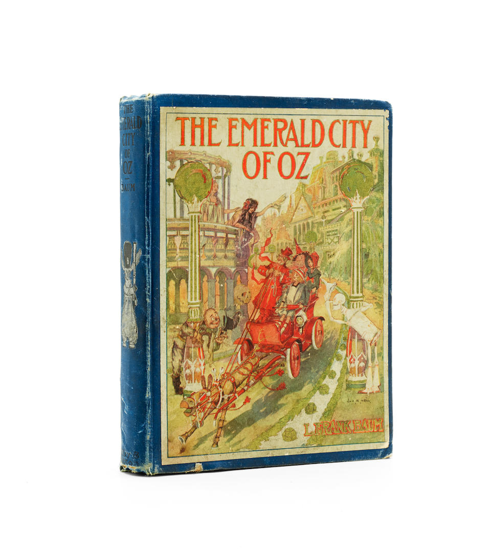 BAUM, L. FRANK. 1856-1919.  NEILL, JOHN R. 1877-1943. The Emerald City of Oz.  Chicago: Reilly & Britton Co., [1910].