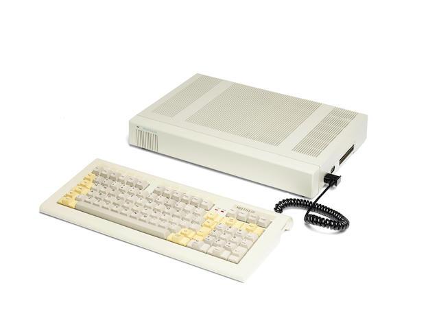 APPLE IIE CLONE. Multitech Micro-Professor MPF III/312 Computer, Taiwan, 1983 CPU and keyboard in original shipping box,