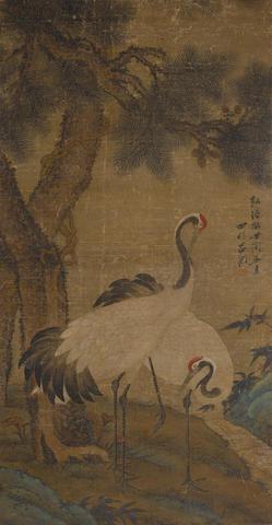 Anonymous (19th century) Cranes