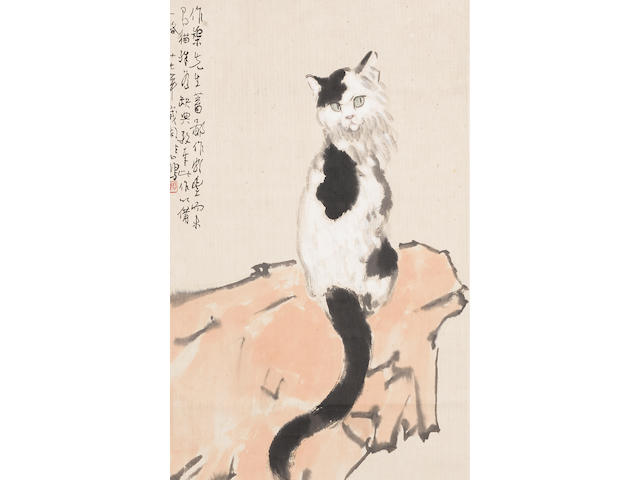 Xu Beihong (1895-1953) Cat and Rock, 1938
