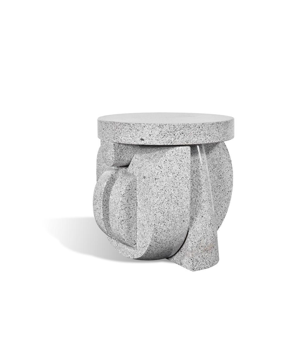 Andrea Cascella (1919-1990) Supporto per un Cristallo1985granite, engraved 'AC'; sold together with a maquette for the workheight 23 1/2in (60cm); width 27 1/2in (70cm); depth 27 1/2in (70cm); maquette height 6 1/2in (16.5cm)