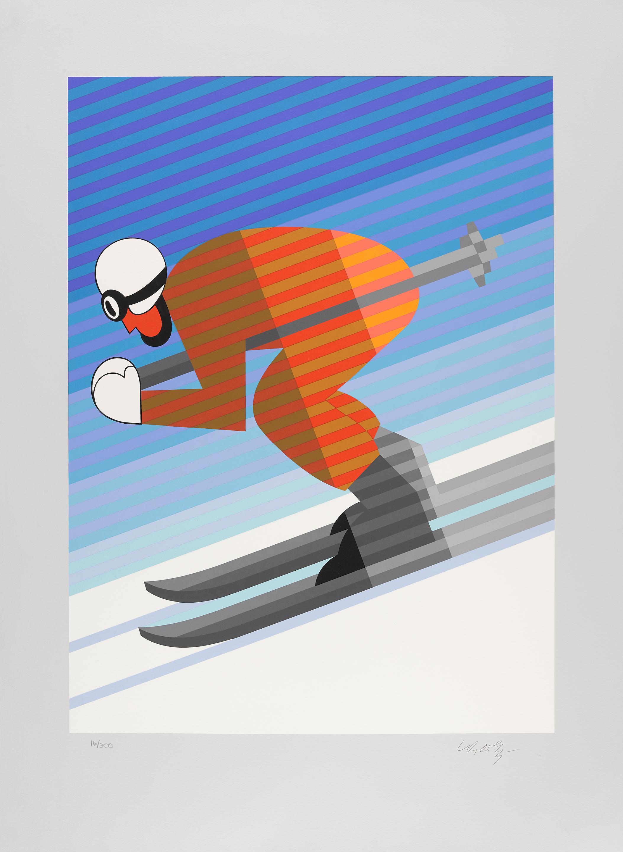 Victor Vasarely (1906-1997); Skier;