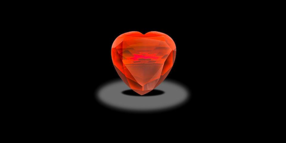 Heart-shaped Almandine Garnet