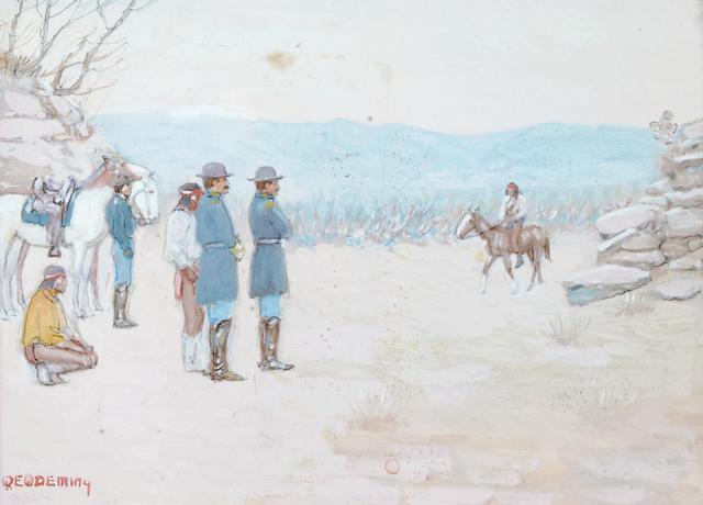 Edwin W. Deming (1860-1942) Scout's Return 6 1/4 x 9 1/4in