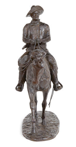 Harry Jackson (1924-2011) John Wayne Unfinished Model 25in high (Modeled and cast in 1981.)