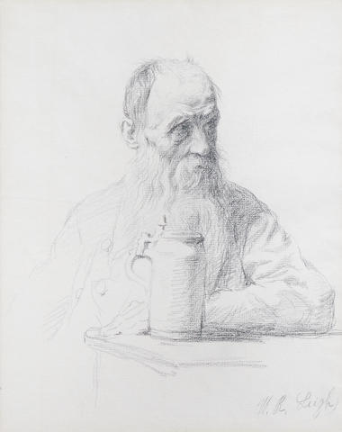William Robinson Leigh (1866-1955) George Bernard Shaw 12 x 9in