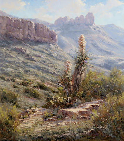 Kenny McKenna (born 1950) Big Bend Blooms 28 x 24in (Painted in 2010.)