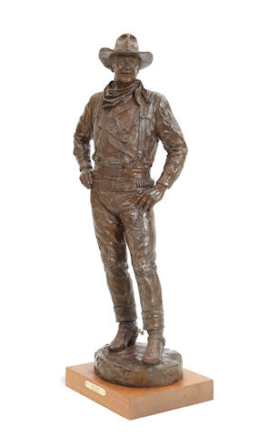 Grant Speed (1930-2011) John Wayne 33in high (Modeled in 1983.)