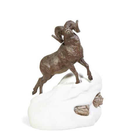 Douglas Van Howd (born 1935) Bighorn 21in high