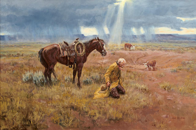 Joe Neil Beeler (1931-2006) Thanks for the Rain 24 x 36in (Painted in 1966.)