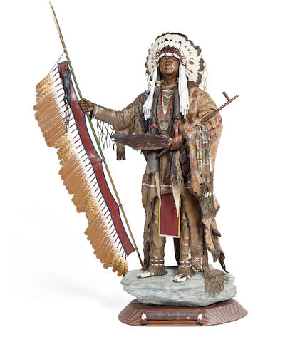 Don Baker (born 1946) Southern Cheyenne Chief 20in high (Modeled in 1987.)
