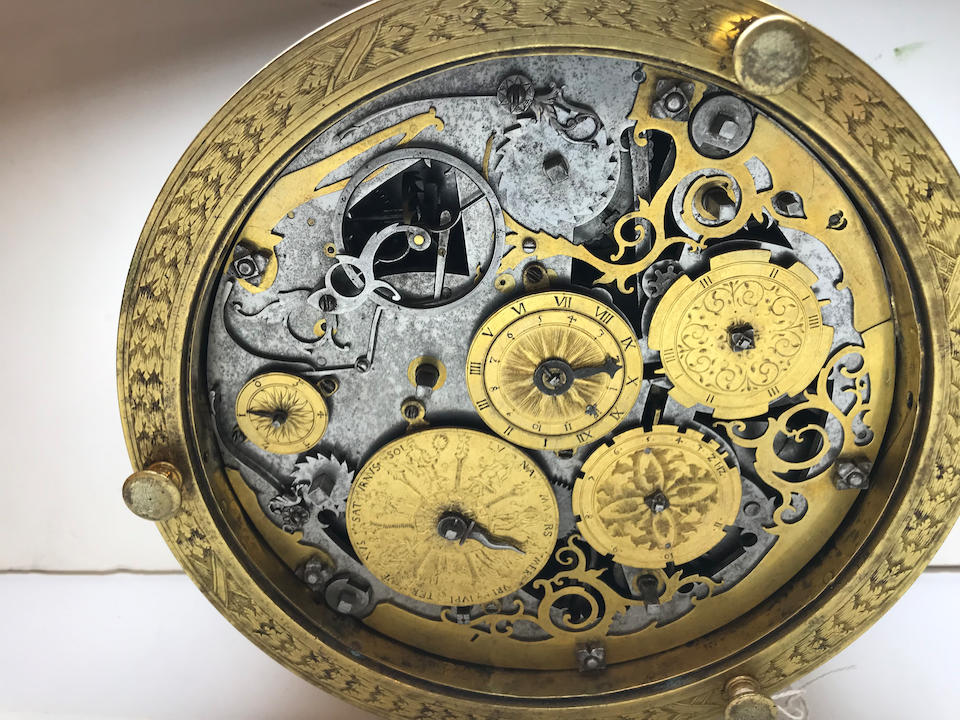 """A highly important South German quarter striking astronomical table clock with alarm from the group known as """"The Orpheus Clocks"""",  circa 1570"""