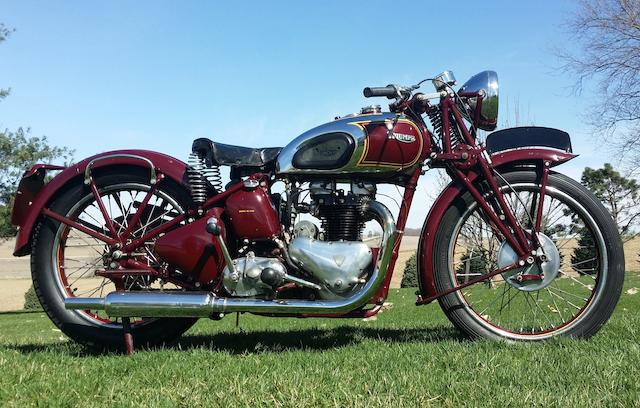 The ex-Steve McQueen, 1938 Triumph 500cc 5T Speed Twin Frame no. T.H.5838 Engine no. 13084