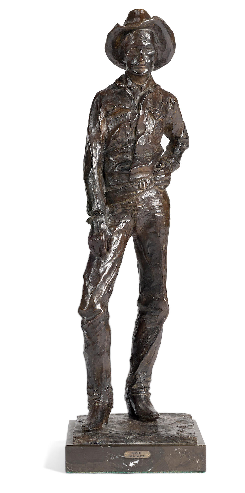 Harry Jackson (1924-2011) Gunsil 21 1/4in high (Modeled and cast in 1966.)