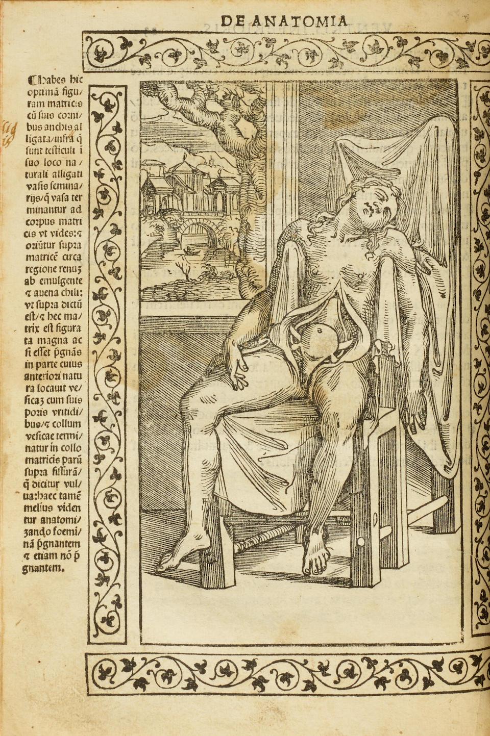 BERENGARIO DA CARPI, GIACOMO. 1460-1530.  Isagogae breves perlucide ac uberrimae in Anatomiam humani corporis.  Bologna: Benedictus Hectoris, 15 July 1523.