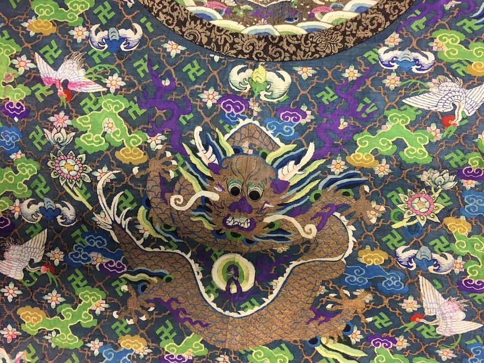 a KESI-WOVEN SILK DRAGON ROBE Late Qing dynasty