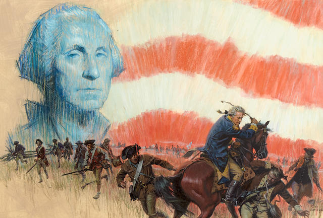 Tom Lovell (1909-1997) George Washington 16 x 24in (Executed circa 1950s.)