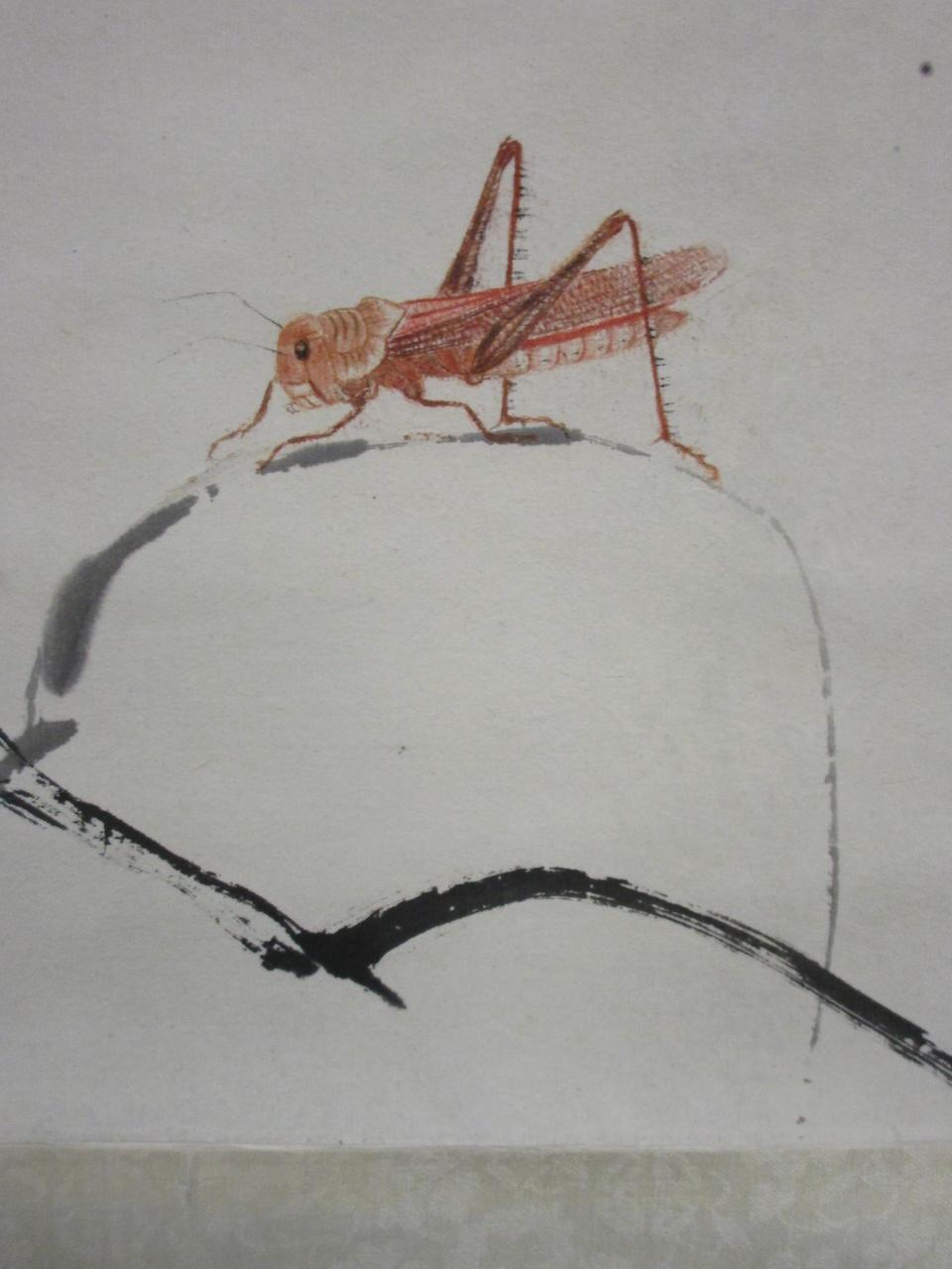Qi Baishi (1864-1957)   Squash & Grasshopper