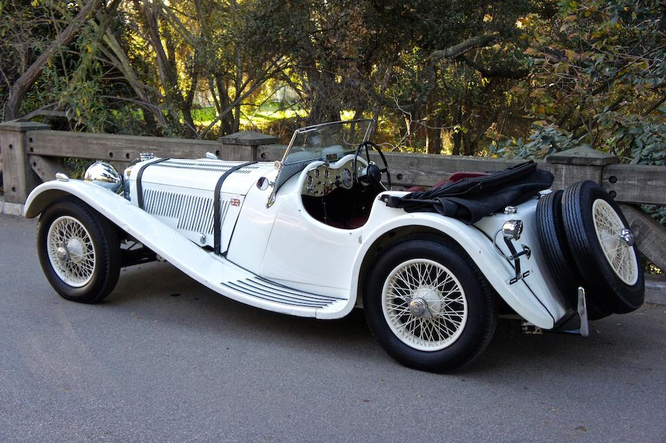 <b>1937 Jaguar SS100 2&#189;-LITER ROADSTER</b><br />Chassis no. 18072<br />Engine no. 252608