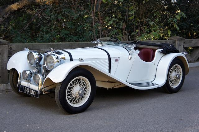 <b>1937 Jaguar SS100 2½-LITER ROADSTER</b><br />Chassis no. 18072<br />Engine no. 252608