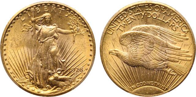 1928 $20 MS62 PCGS