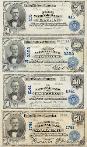 1902 $50 National Bank Notes, Date Back (4)