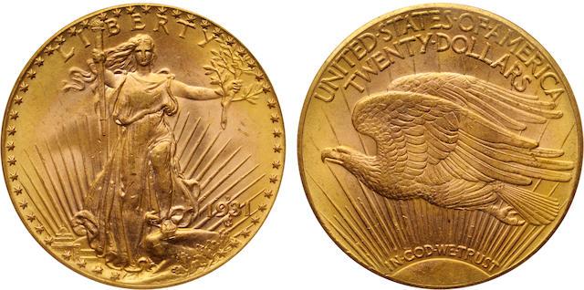 1931-D $20 MS65 PCGS