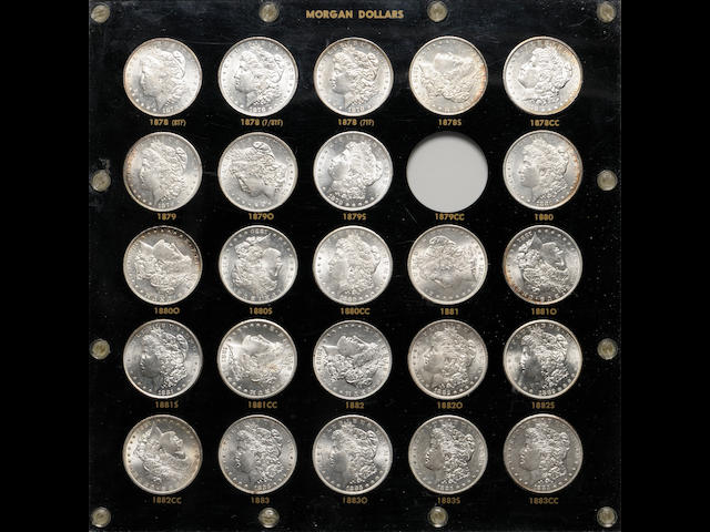 Partial Morgan Dollar Set in Black Capitol Plastic Holder