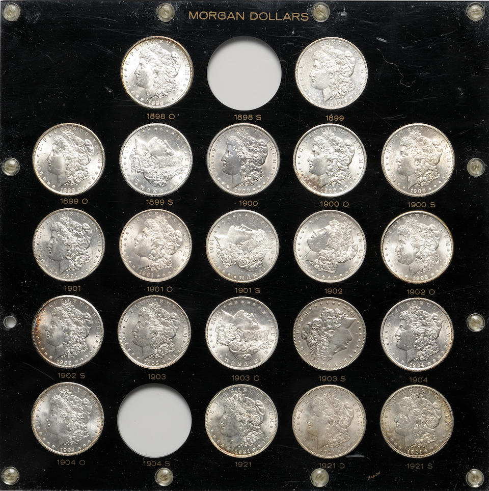 Partial Morgan Dollar Set in Black Capitol Plastic Holder