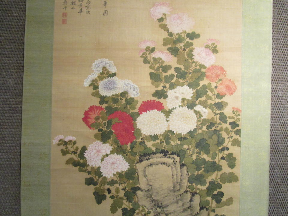 After Yun Shouping (19th century) Chrysanthemum and Rock