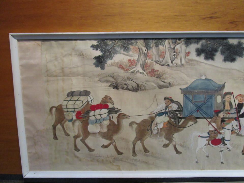 Anonymous (19th/20th century)  Hunting Scene and Calligraphy